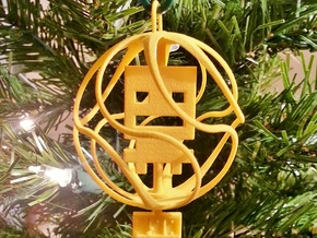Turbo Buddy Ball Ornament in Yellow Strong & Flexible Polished