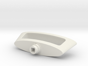 Novoferm Garage Door Handle in White Natural Versatile Plastic