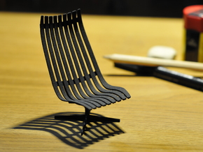 Scandia Senior Chair 1/12 Scale in Black Strong & Flexible