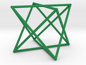 Rod Merkaba 2cm in Green Processed Versatile Plastic