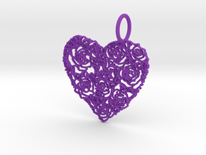 Love ShapePendant in Purple Strong & Flexible Polished