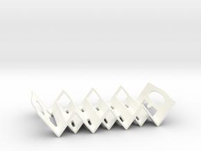 Triangular Soap Holder in White Processed Versatile Plastic