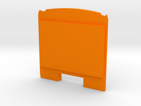 Brussels Metro M1 Rear panel in Orange Strong & Flexible Polished