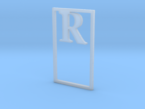 Bookmark Monogram. Initial / Letter R              in Smoothest Fine Detail Plastic