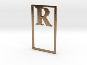 Bookmark Monogram. Initial / Letter R              in Natural Brass