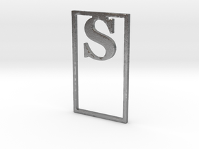 Bookmark Monogram. Initial / Letter S              in Natural Silver