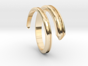 Ring 5 in 14k Gold Plated Brass