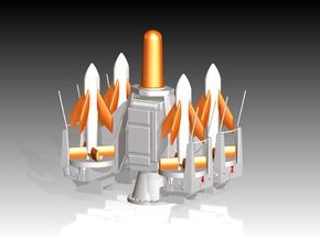 Seacat Launcher 1/192 in Smooth Fine Detail Plastic