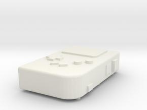 Gameboy in White Natural Versatile Plastic
