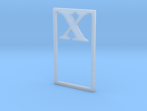 Bookmark Monogram. Initial / Letter X  in Smooth Fine Detail Plastic