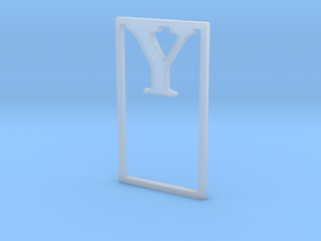 Bookmark Monogram. Initial / Letter  Y  in Smooth Fine Detail Plastic