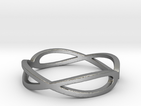 Aeon Double Infinity Ring Size 10.75 in Natural Silver