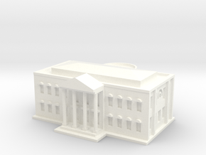 White House (1/1000 Scale Model) in White Processed Versatile Plastic