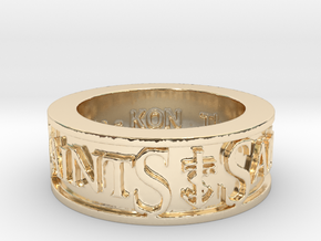 Saints Member  Ring Size 10 in 14K Yellow Gold