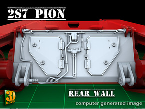 2S7 PION Rear Wall Update set (1:35) in Smooth Fine Detail Plastic