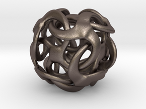 Tetra lobio - 25mm in Polished Bronzed Silver Steel