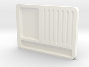 Pinning tray in White Processed Versatile Plastic