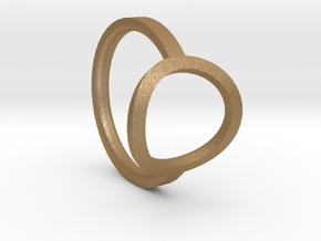 Simple Ring 111b6 in Matte Gold Steel