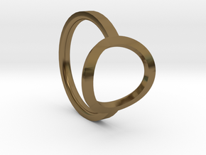 Simple Ring 111b6 in Polished Bronze