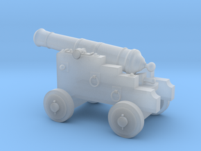18th Century 3# Cannon-Small Naval Carriage 1/24 in Smooth Fine Detail Plastic