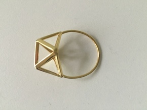 Simplify (Amplituhedron Ring) Statement Ring  in 18k Gold Plated Brass: 8 / 56.75