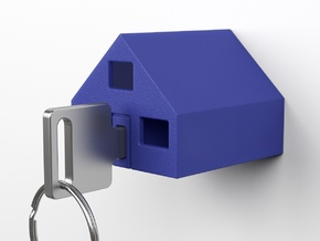 KEY-HOUSE  ( part 1 of 2 ) in Blue Processed Versatile Plastic