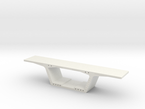 1:50 Precast Bridge Segment in White Natural Versatile Plastic