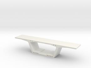 1:50 Precast Bridge Segment in White Natural Versatile Plastic