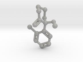 Ketamine Molecule Necklace Keychain Earring in Raw Aluminum