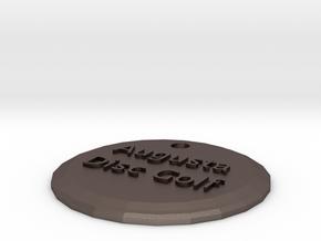 Augusta Disc Golf keychain in Polished Bronzed Silver Steel