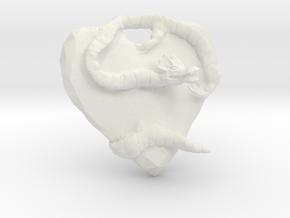 Dragon Guardian in White Natural Versatile Plastic