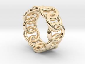Chain Ring 15 – Italian Size 15 in 14K Yellow Gold
