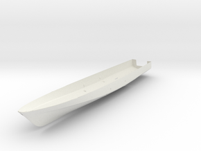 1/96 scale Cyclone Hull .025 in White Natural Versatile Plastic