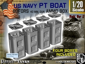 1-20 Bofors Ammo Box Set1 in Frosted Ultra Detail