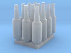 Beer Bottle LongNeck 330ml- 1:24 12ea Ver 2 in Smooth Fine Detail Plastic