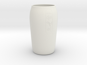 Canopic Jar base in White Natural Versatile Plastic