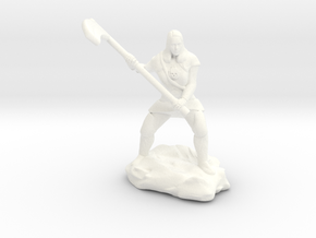 Female Human Cleric of Wee Jas With Scythe in White Strong & Flexible Polished