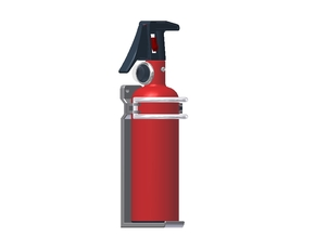 1:6 Scale approx.-Fire Extinguisher Assy - Dissemb in White Strong & Flexible Polished