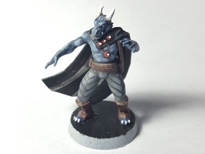 Dragonborn Sorcerer in Black Hi-Def Acrylate