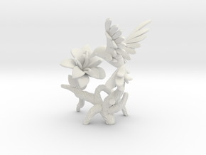Hummingbird in White Natural Versatile Plastic