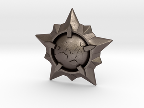 World Exploration Star in Polished Bronzed Silver Steel