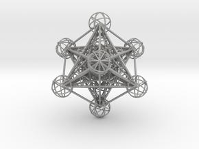3D Metatron's Cube (small) in Aluminum