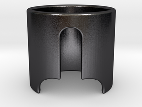 LUI / HE in Polished and Bronzed Black Steel