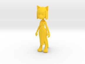 Egypt Kitty Figure in Yellow Processed Versatile Plastic