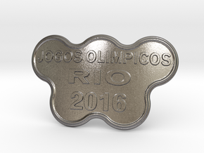 Jogos Olimpicos Belt Buckle in Polished Nickel Steel