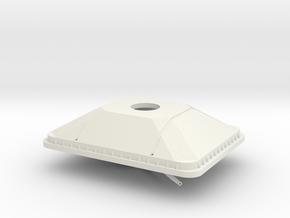 1/72 scale 25mm Gun Mount in White Natural Versatile Plastic