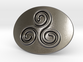Triskell Belt Buckle in Polished Nickel Steel