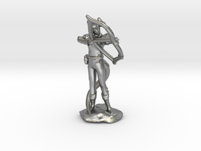 Tiefling Ranger with  Bow in Natural Silver
