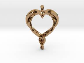 Twisted Heart in Polished Brass