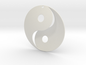 Yin Yang Pendant in White Strong & Flexible